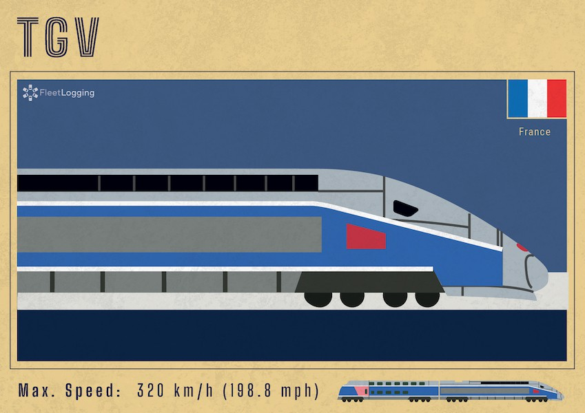TGV high-speed train in France