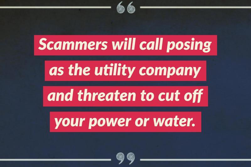 utilities cutoff scam