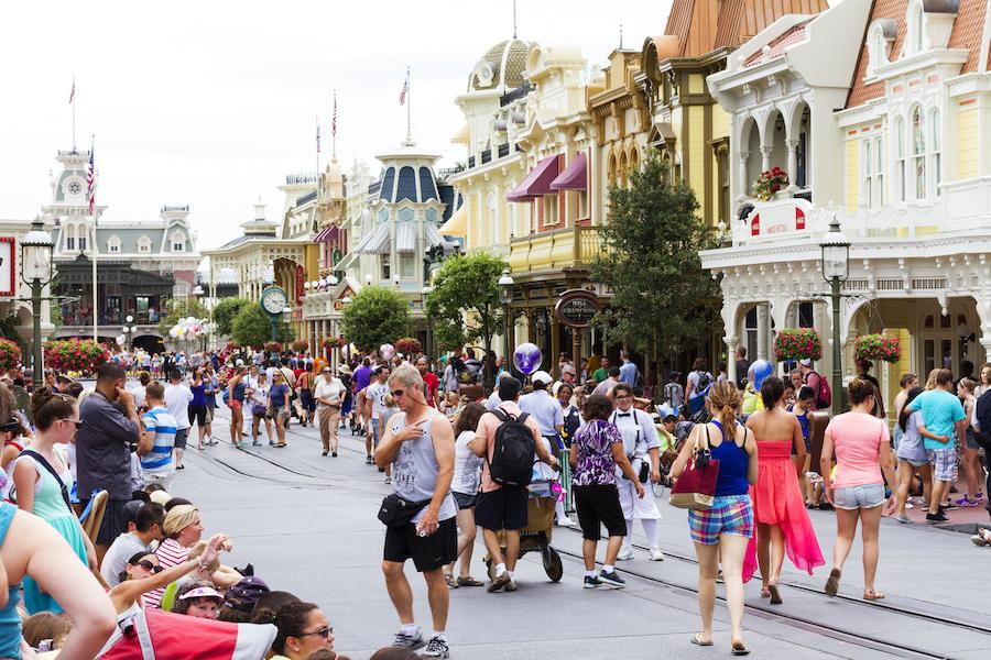 Tourists at Disneyland