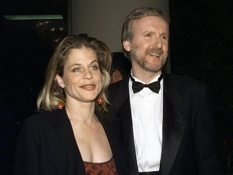 James Cameron & Linda Hamilton