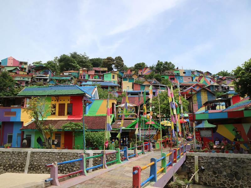 Kampung Pelangi, Semarang, Central Java, Indonesia.