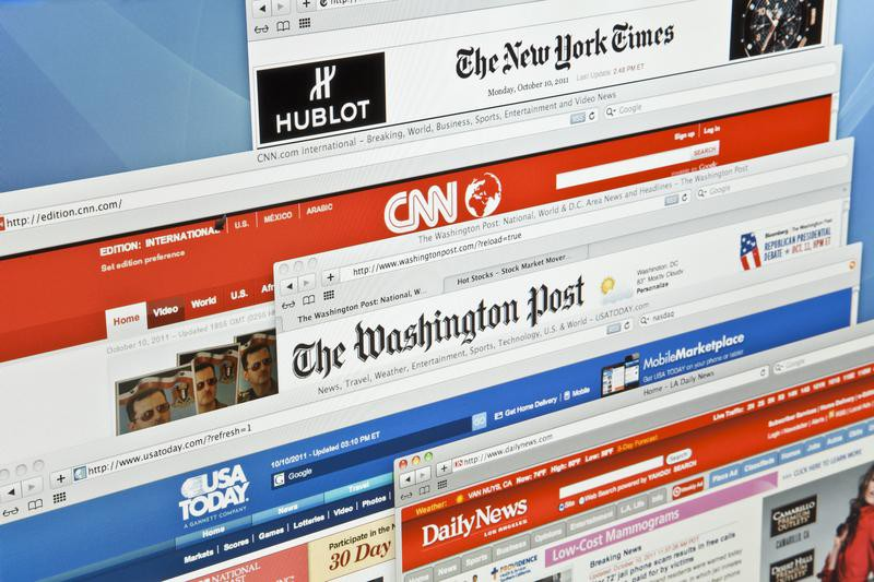 The New york Times, CNN, The Washington post, USA Today and Daily News, websites