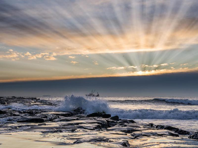 Sunrise at Avon-by-the-sea, New Jersey