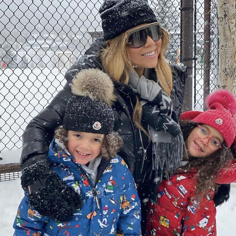 Mariah Carey and her children