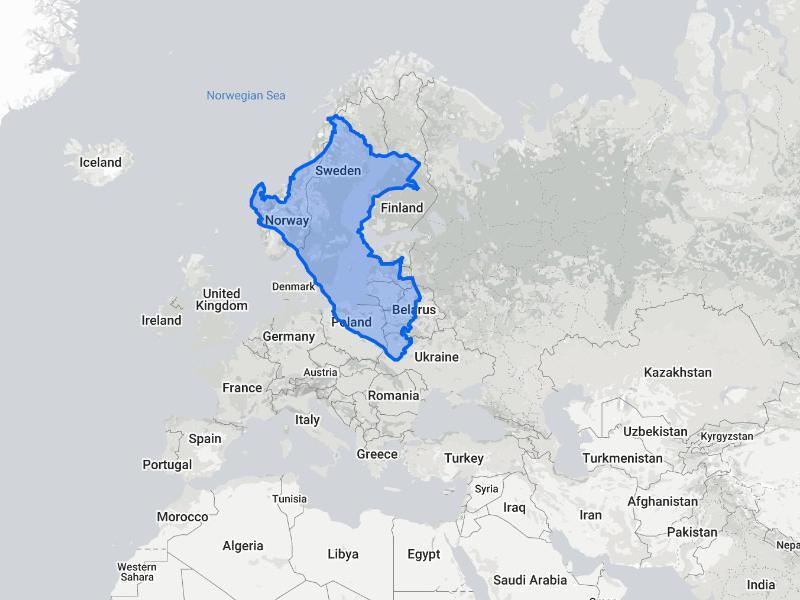 Peru compared to Scandinavia