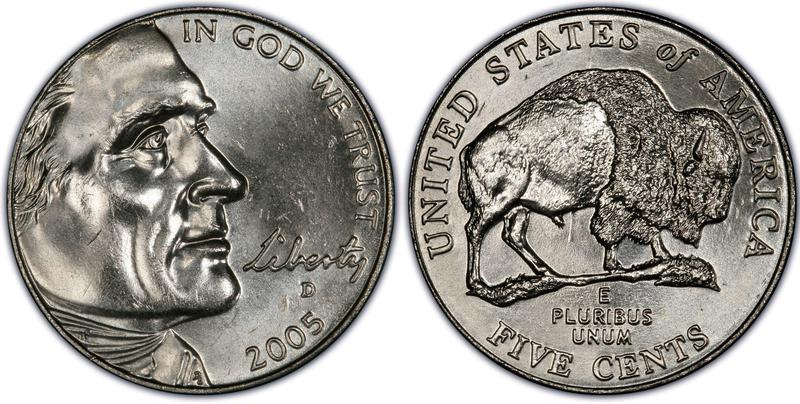 2005-D U.S. Jefferson Bison Nickel