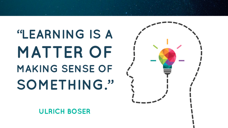 Learning is a matter of making sense of something