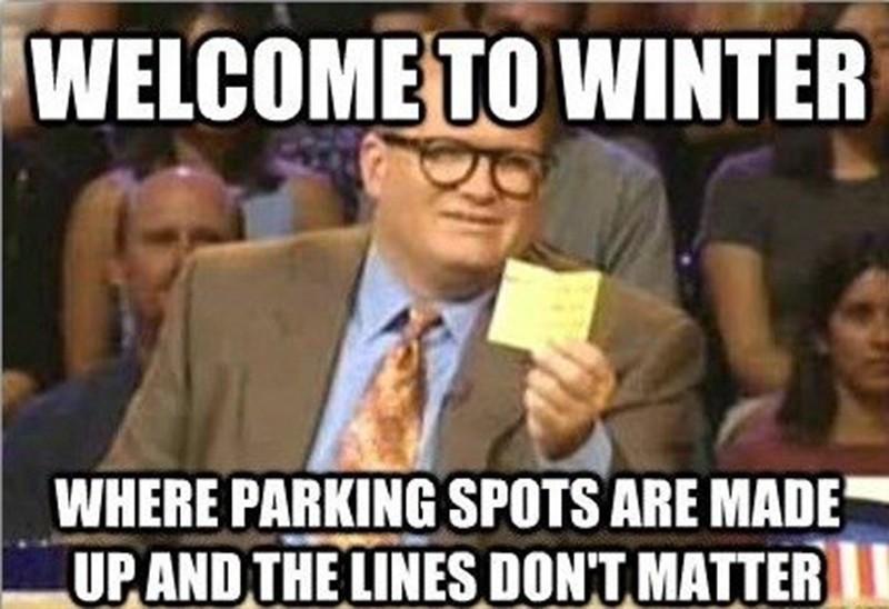 Drew Carey shares winter parking facts