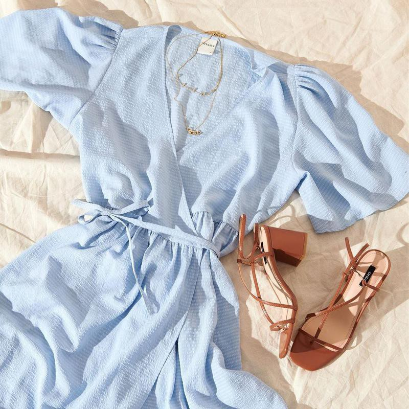 Cerulean blue dress