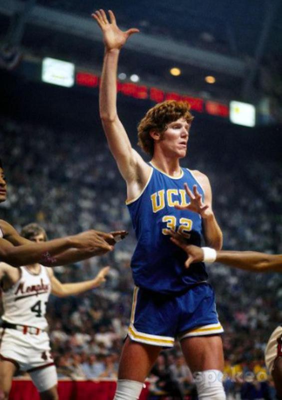UCLA center Bill Walton waits for pass