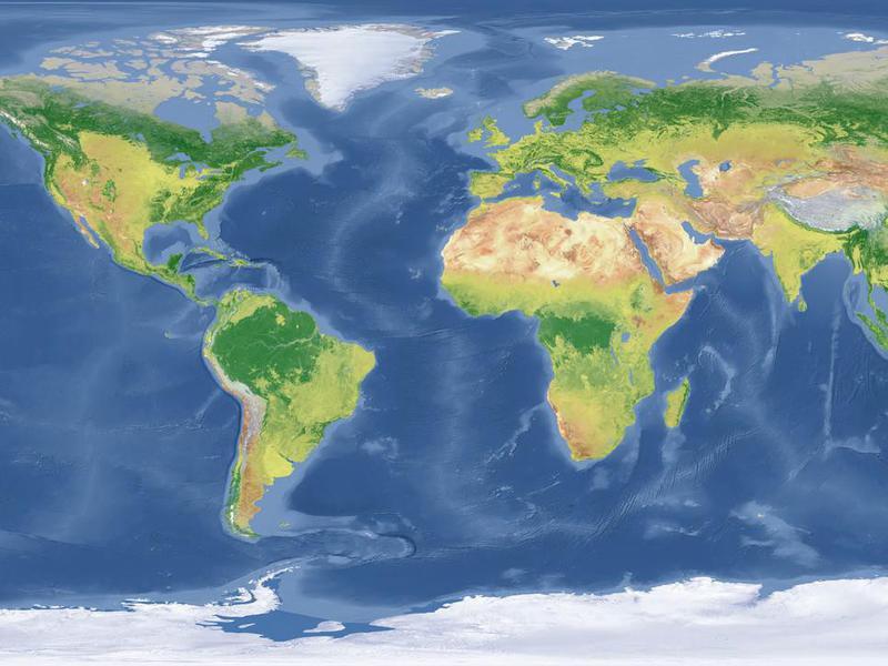 world Topographic Map