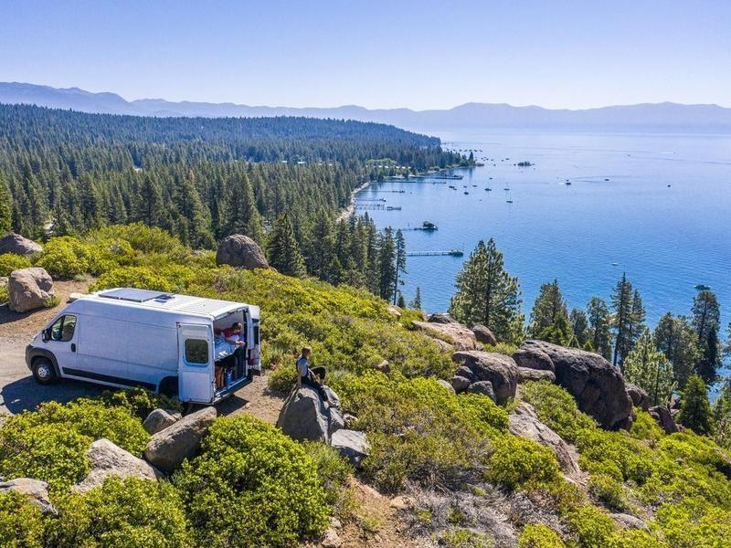 Camper van in Lake Tahoe