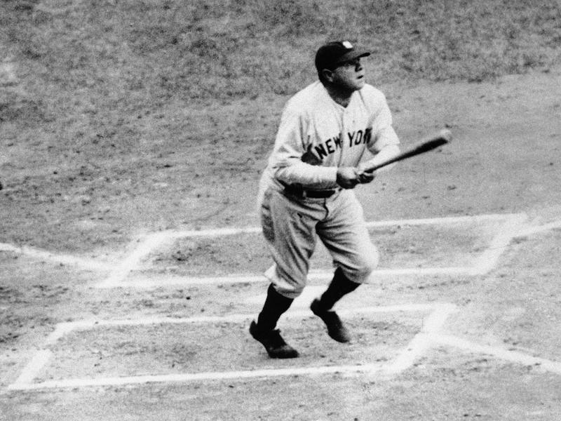 Babe Ruth hitting