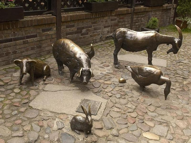 Monument in Honor of the Slaughtered Animals in Wroclaw, Poland