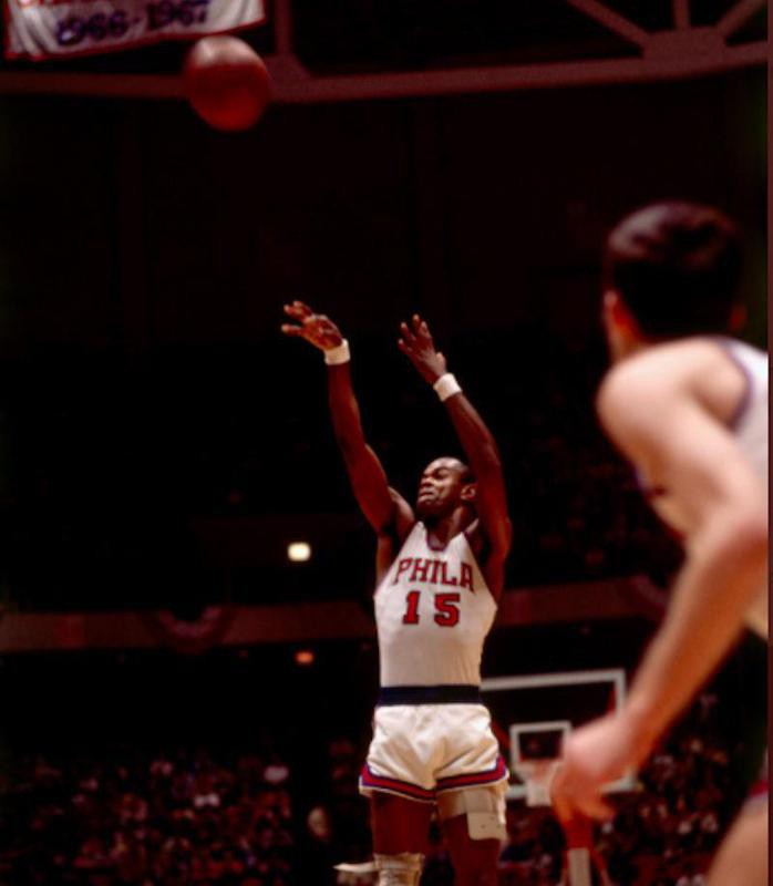 Hal Greer goes for free throw