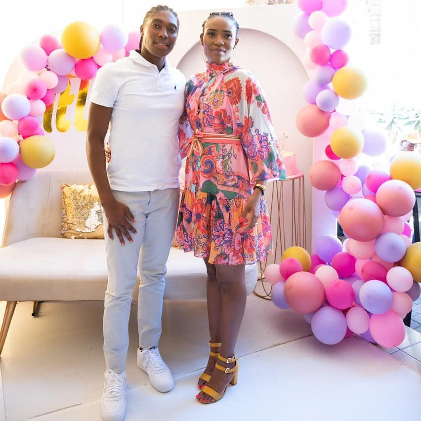 Caster Semenya with wife
