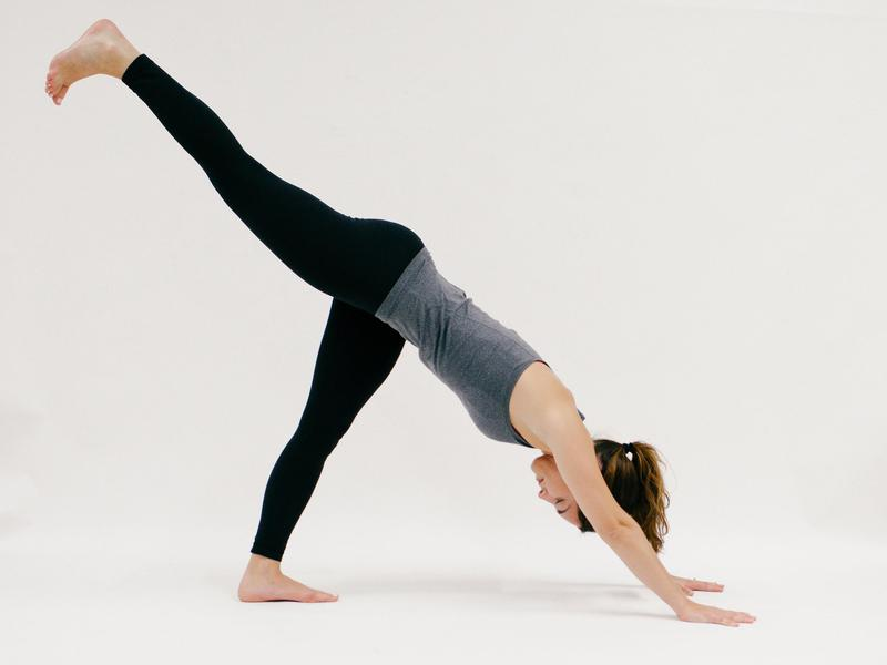 Downward Facing Dog with Leg Lift - 10 Minutes of Yoga to Jumpstart Your Work Day