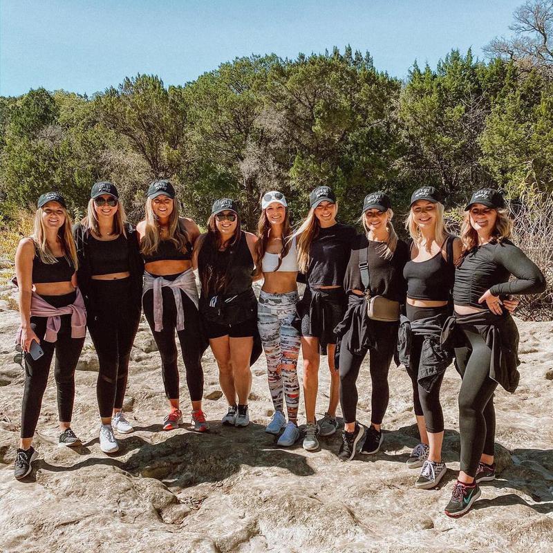 Women in hiking trip
