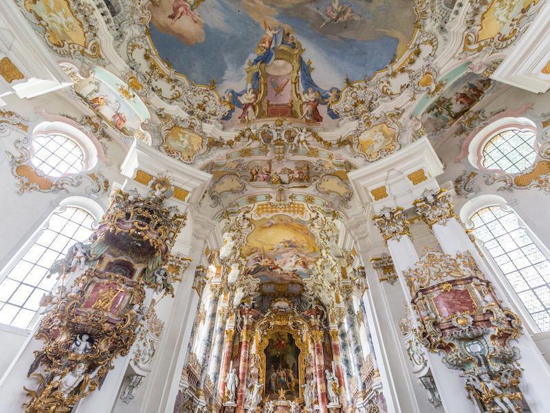 Pilgrimage Church of Wies interior