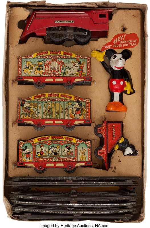 Lionel Pre-War Mickey Mouse Circus Train Set