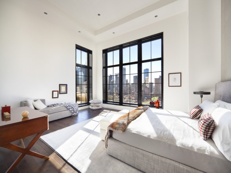 Master bedroom in Trevor Noah's $10 million apartment