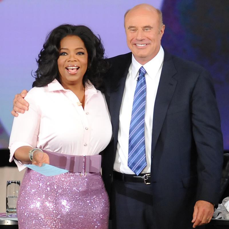 Oprah Winfrey reacts to seeing Dr. Phil without mustache