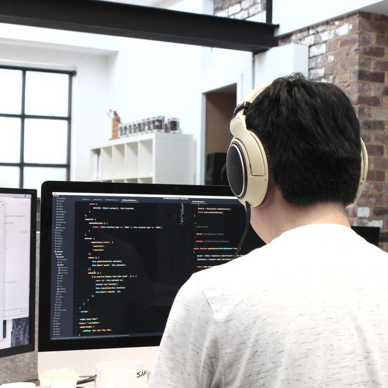 Web developer at computer