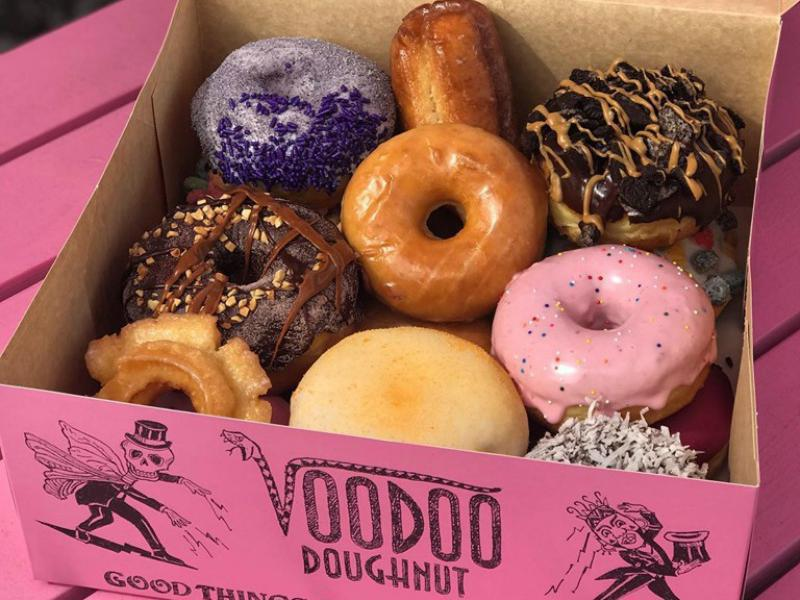 Box of sweets from Voodoo Doughnut