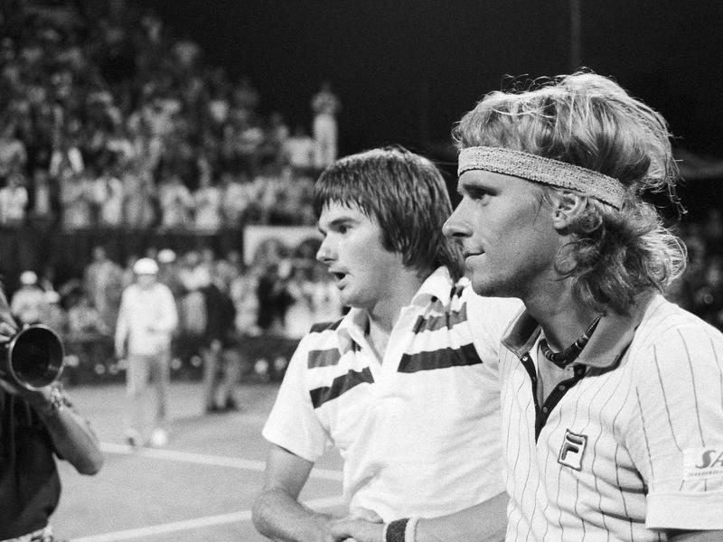 Jimmy Connors and Bjorn Borg