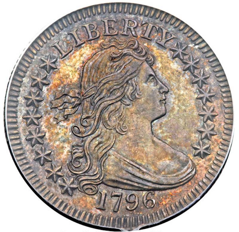 1796 Proof-Like B-2 Draped Bust Quarter