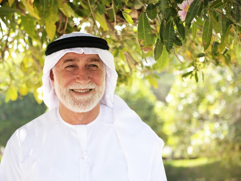 Man smiling in Bahrain
