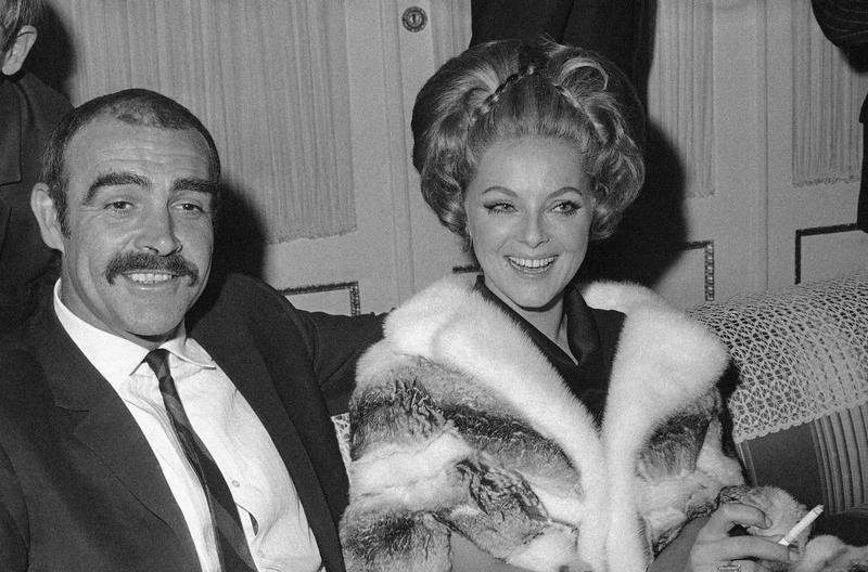 Sean Connery and actress Virna Lisi in 1968