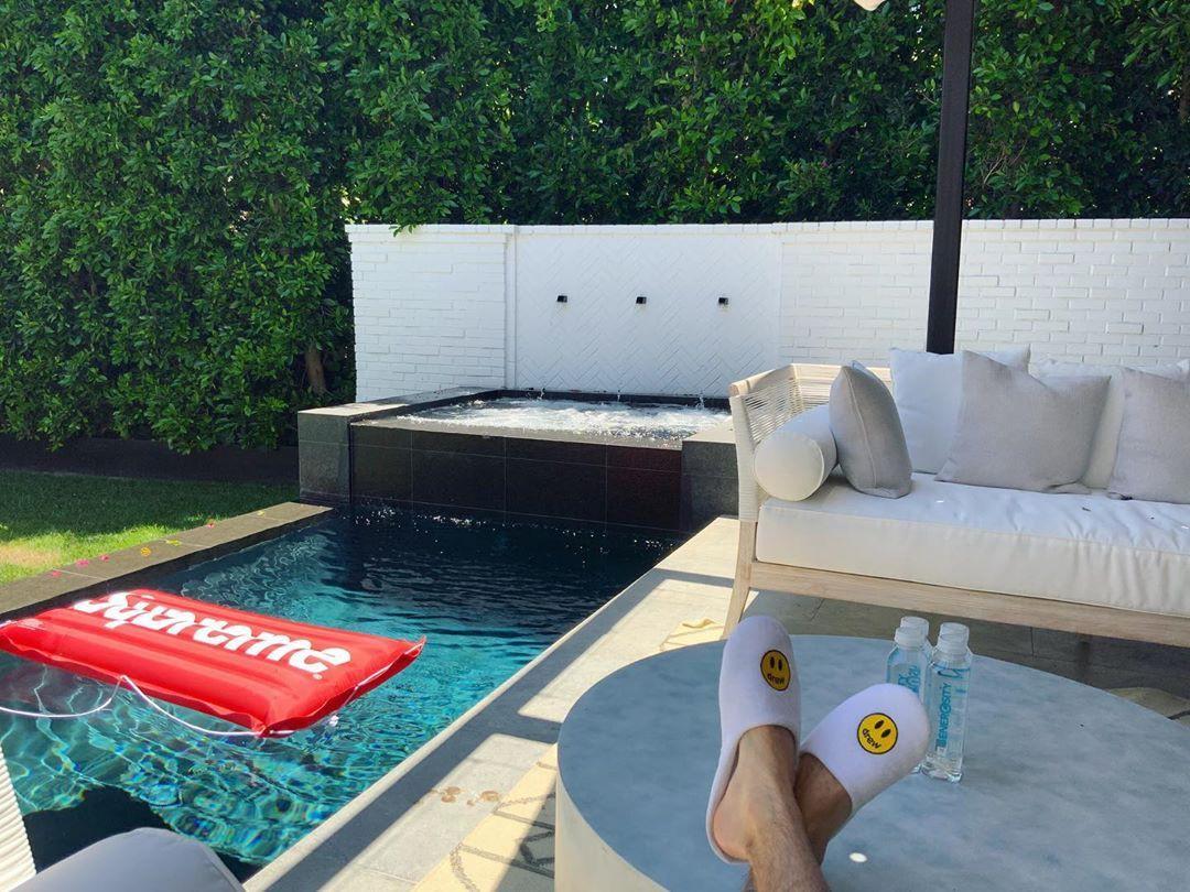 Justin Bieber's pool house