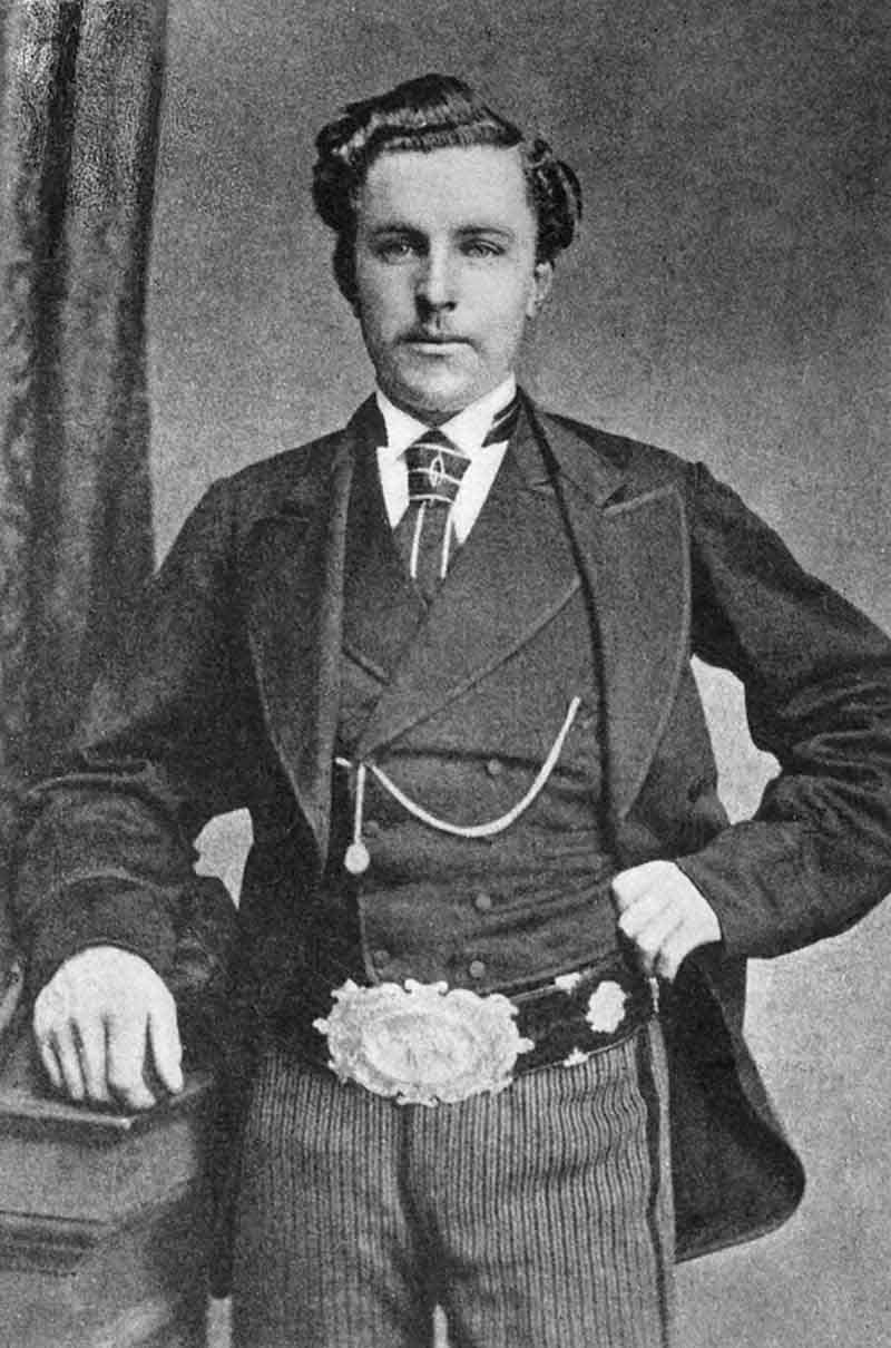Young Tom Morris with British Open belt