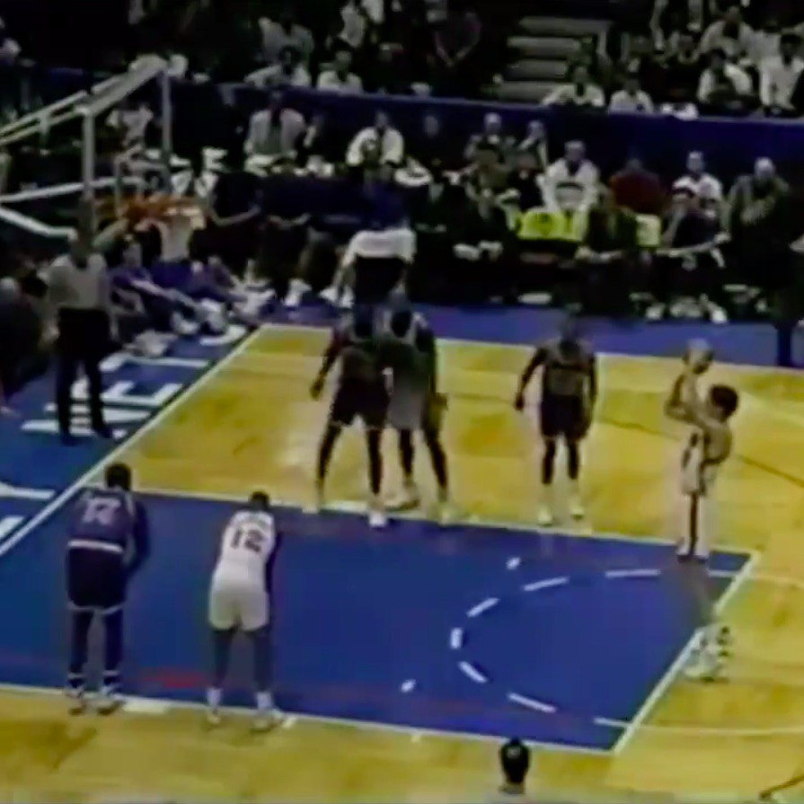 Chris Dudley during free throw
