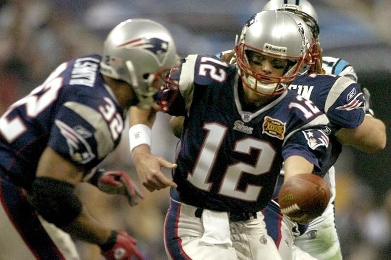 Tom Brady during Super Bowl XXXVIII in 2004