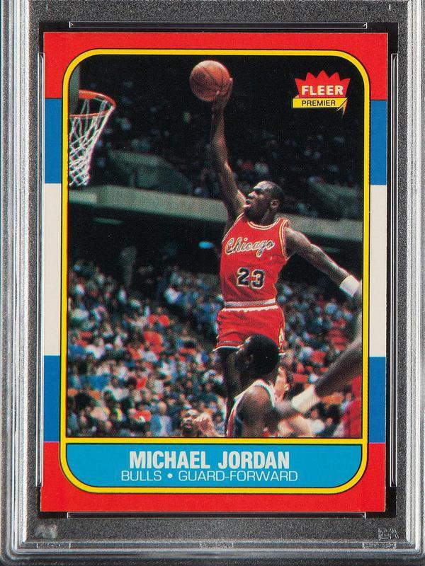 Michael Jordan 1986-87 Fleer card