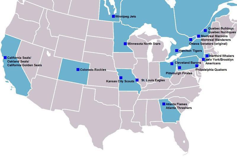 Defunct NHL teams