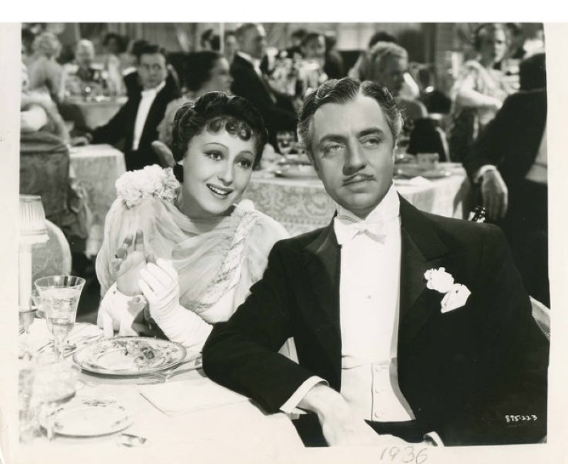 """William Powell and Luise Rainer in """"The Great Ziegfeld"""""""