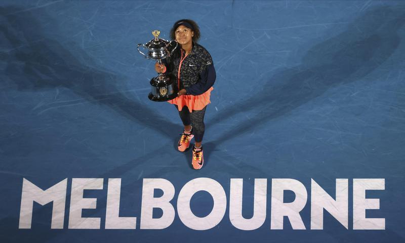 Japan's Naomi Osaka holds Daphne Akhurst Memorial Cup
