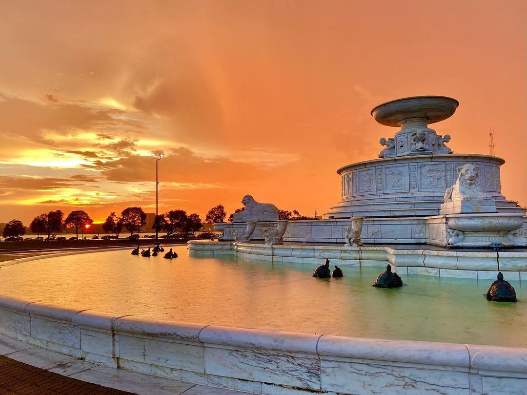 Fountain at Belle Isle