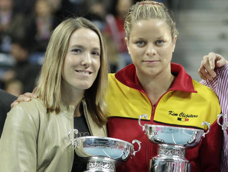 Justine Henin and Kim Clijsters