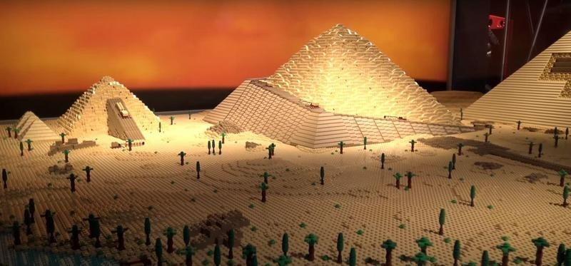 Lego Pyramid of Giza at the Museum of Science and Industry in 2016