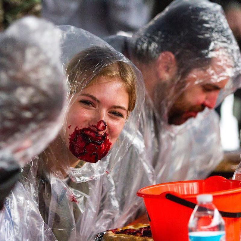 Harvest Fest Pie Eating Contest