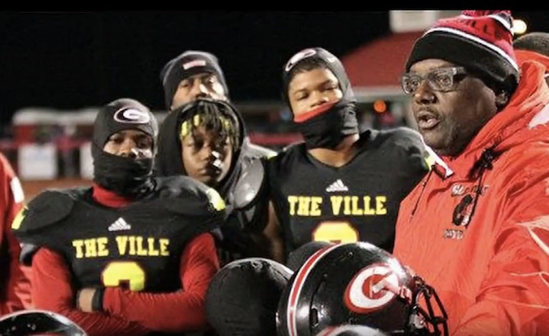Glenville coach Ted Ginn Sr. and players