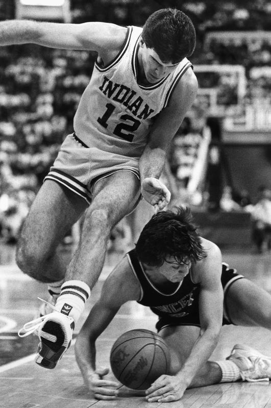 Indiana's Steve Alford against Princeton