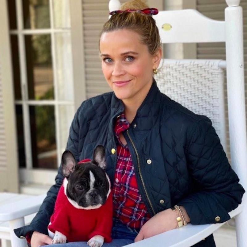 Reese Witherspoon with a dog