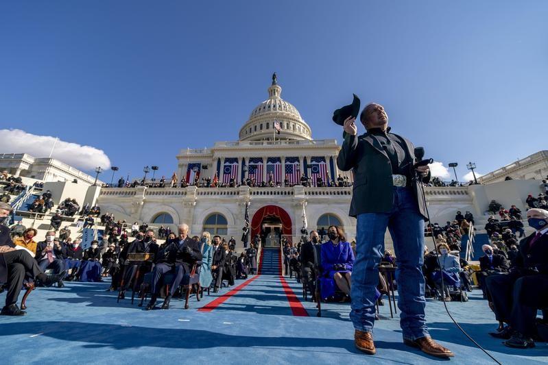Garth Brooks at 59th presidential inauguration