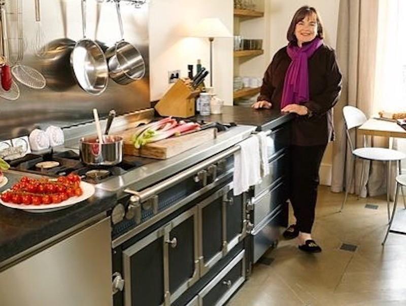 Ina Garten with La Cornue stove