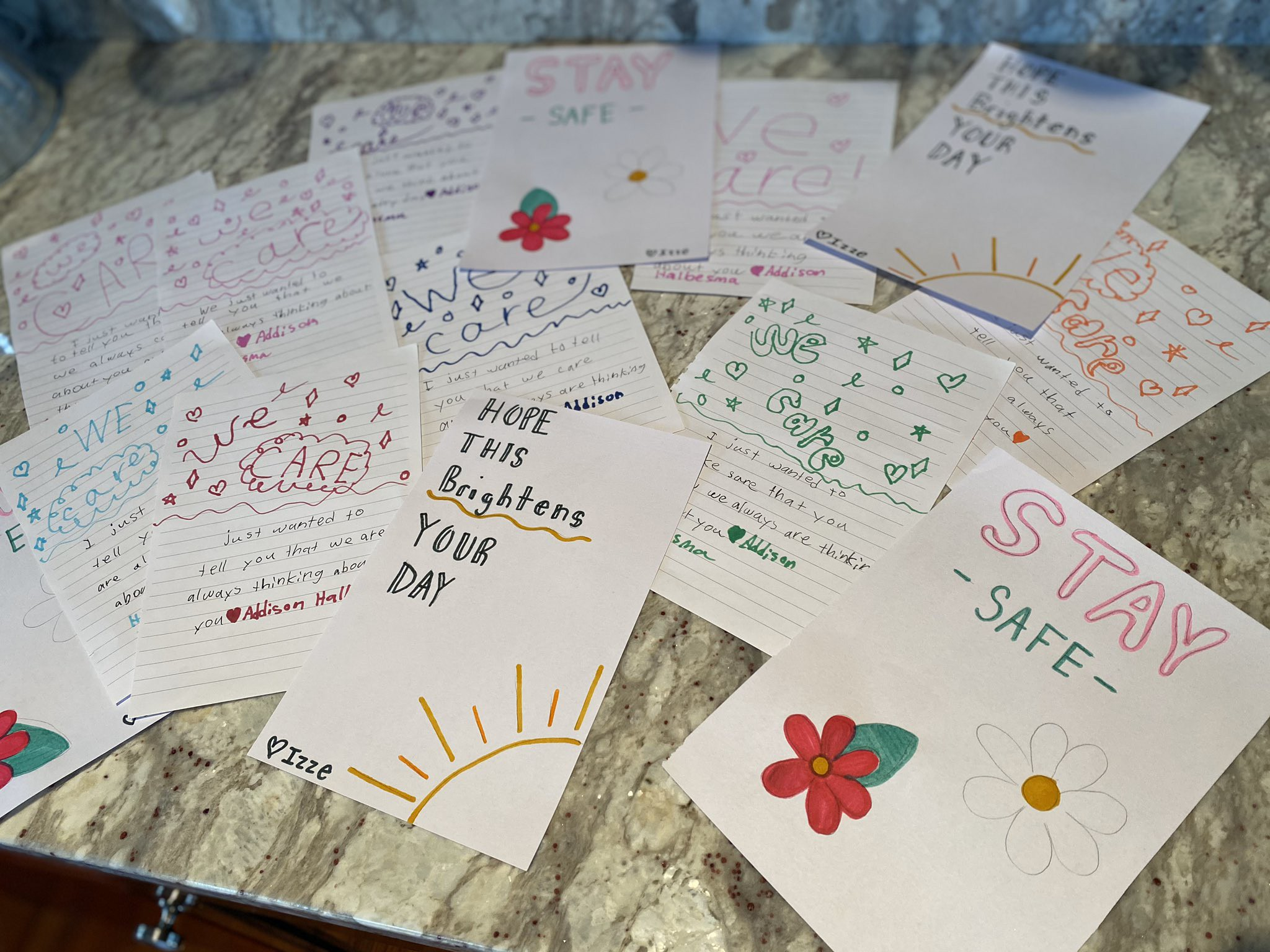 Letters to nursing homes